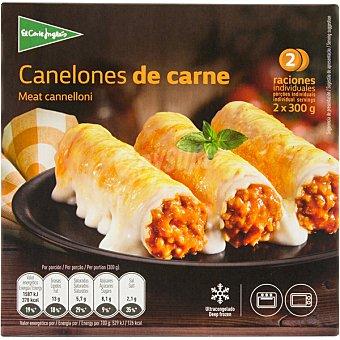 El Corte Inglés canelones de carne 2 raciones estuche 600 g