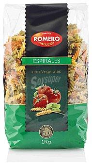 Romero Pasta con Vegetales Espirales Romero 1kg 1 kg