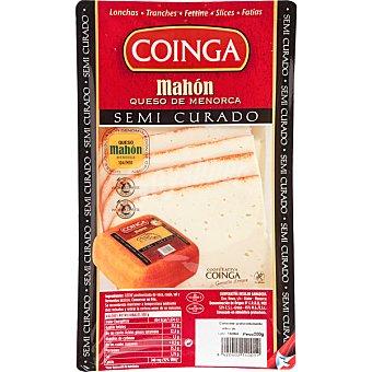 Coinga Queso Mahon semicurado en lonchas D.O.P. sin gluten envase 200 g Envase 200 g