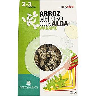 Porto Muiños Arroz meloso con alga wakame Envase 220 g