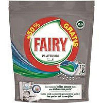 Fairy Detergente vajillas a máquina Platinum 12+2u