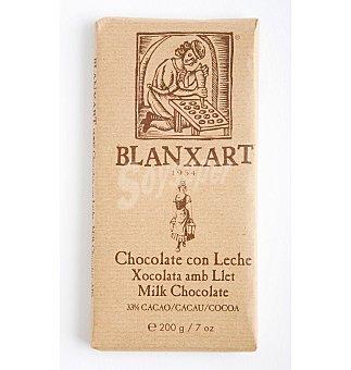 Blanxart Chocolate con leche 33% de cacao sin azúcar 100 g