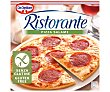 Pizza congelada de salami y queso, sin gluten 315 g Ristorante Dr. Oetker