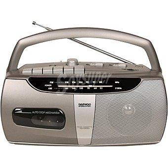 DAEWOO DRP-07G Radio Portátil con cassette grabadora en color gris