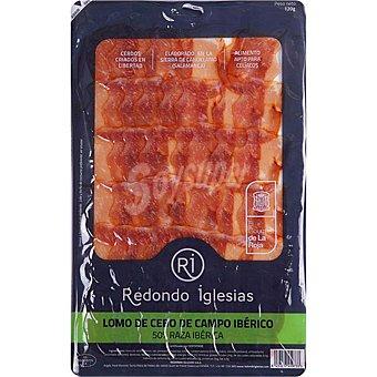 Redondo Iglesias Lomo de cebo de campo ibérico 50% raza ibérica en lonchas sin gluten Envase 120 g