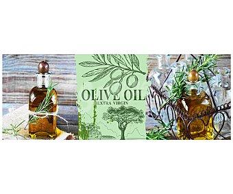 IMAGINE Cuadro con la clásica imagen de unas botellas de aceite de oliva. Dimensiones 30x80Cm 1 Unidad