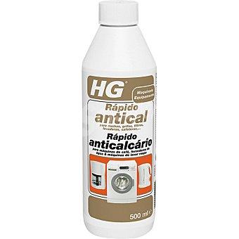 HG Limpiador rapido antical para duchas grifos filtros lavadoras y cafeteras botella 500 ml Botella 500 ml