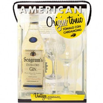 Seagram's Ginebra Botella 70 cl + Copa + Cardamomo