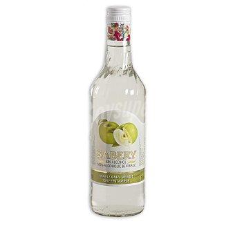 Sabery Licor de manzana verde sin alcohol Botella 75 cl