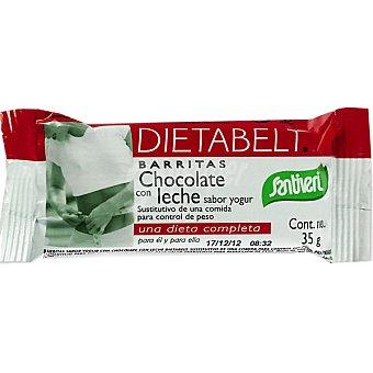 SANTIVERI Dietabelt Barritas de chocolate con leche sabor yogur sustitutiva de una comida Envase 35 g