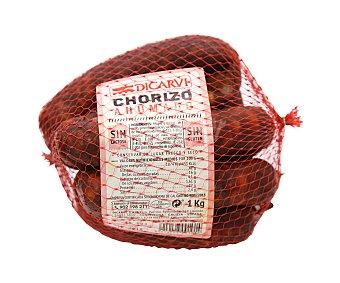 Dicarvi Chorizo ahumado en malla, elaborado sin gluten y sin lactosa 1 kg. 900 Gramos Aproximados