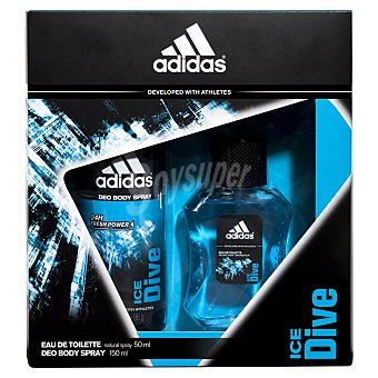 Adidas Colonia + body spray ice dive Pack 1 ud