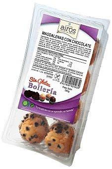 Airos Magdalena con chocolate sin gluten Paquete 300 g