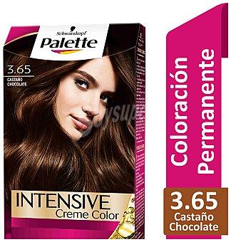 Palette Schwarzkopf Tinte castaño medio chocolate n º3.65 Intense Colors Caja 1 u