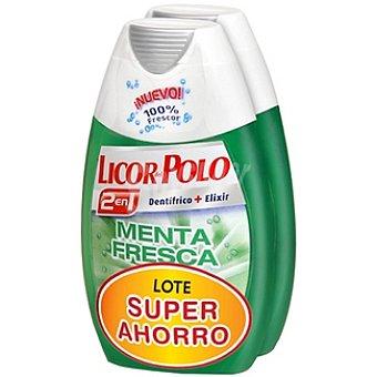 Licor del polo Dentífrico con elixir 2 en 1 menta fresca lote súper ahorro Pack 2 tubo 75 ml
