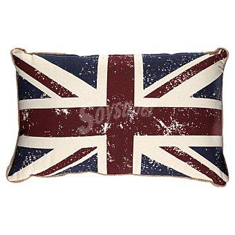 CASACTUAL Cojín Azul y rojo con bandera de Inglaterra