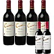 Vino tinto crianza D.O. Rioja caja 4 botellas 75 cl + gratis 2 botella 375 cl de vino tinto crianza 4 botellas 75 cl Cune