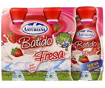 Central Lechera Asturiana Batido de fresa Pack 3 x 200 ml