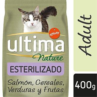 Ultima Affinity Nature alimento para gatos esterilizados con salmón Bolsa 400 gr