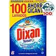 Total detergente máquina polvo con quitamanchas Maleta 100 cacitos Dixan