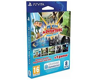 Sony 5 juegos de aventuras en una memoria de 8 Gigas para tu Playstation Vita 1 Unidad