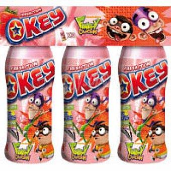 Okey Batido de fresa Pack 3x200 ml
