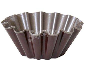 Auchan Molde redondo y rizado para brioche, fabricado en metal antiadherente, 10cm. de diámetro auchan