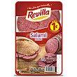 Salami de categoria extra, sin gluten y cortado en lonchas 70 g Revilla