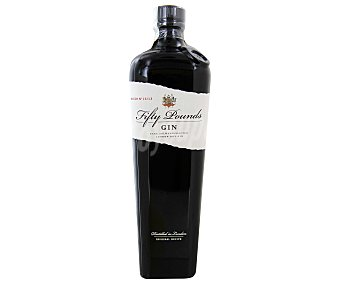 FIFTY POUNDS Ginebra inglesa premium tipo London dry gin Botella de 70 centilitros