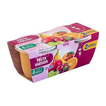 Hacendado Tarrito fruta variada a partir 4 meses Tarrina pack 2 x 250 g - 500 g