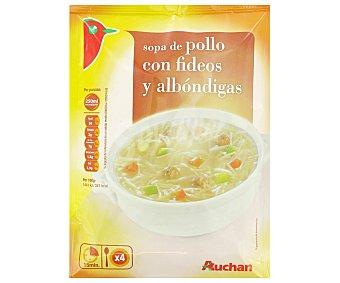 Auchan Sopa de Pollo Con Fideos y Albóndigas Sobre 115 Gramos