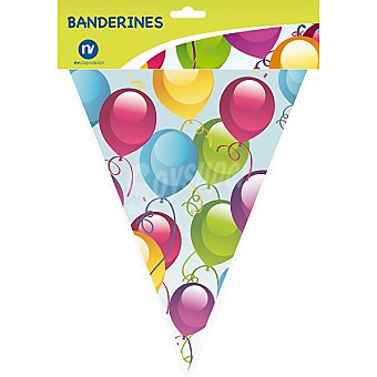 NV CORPORACION Guirnalda de 11 banderines para fiesta con decorado globos envase 1 unidad Envase 1 unidad