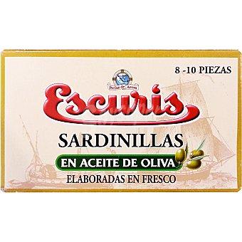 ESCURIS Sardinillas en aceite de oliva 8-10 piezas Lata 57 g neto escurrido