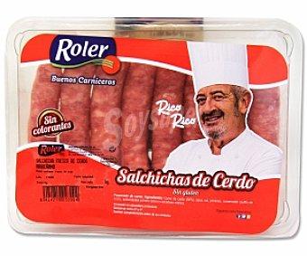 ROLER Salchichas de cerdo sin gluten Bandeja de 8 unidades (320 gramos)