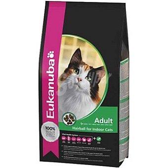 EUKANUBA HAIRBALL INDOOR Alimento completo para gato adulto para el control de las bolas de pelo Bolsa 2 kg