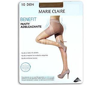 MARIE CLAIRE Benefit Panty fino 10 den, adelgazante,, color maquillaje, talla L L