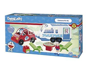 SIMBA Caravana de picnic de Doraemon con accesoris. Incluye figuras de Doraemon y Nobita 1 unidad