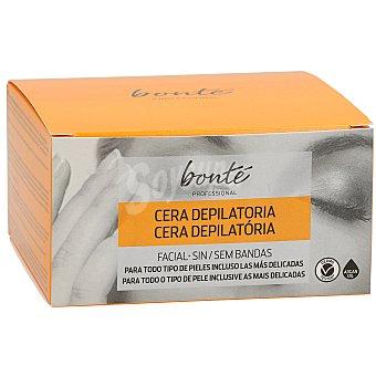 Bonté Cera facial depilatoria sin bandas todo tipo de pieles Tarro 100 gr