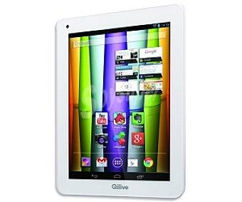 QILIVE Q.3714 Tablets con pantalla retina de 9,7'' Procesador: Quad Core 1.6Ghz, Ram: 2GB, almacenamiento: 8GB ampliable mediante microsd, cámara frontal y trasera, Mini-Hdmi, parte trasera de aluminio, Android 4.2