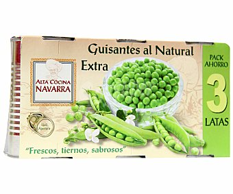 Alta Cocina Navarra Guisantes 3 Unidades de 95 Gramos