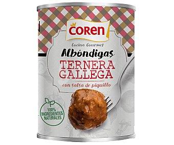 Coren Albóndigas de ternera Gallega en salsa de piquillo 425 g