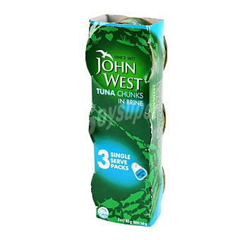 John West Atún al natural Pack de 3x56 g