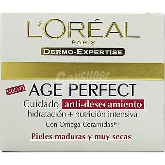 Age Perfect L'Oréal Paris Crema hidratante anti-desecamiento pieles maduras y muy secas Tarro 50 ml