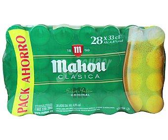 Mahou Cerveza clásica Pack 28 latas de 33 cl