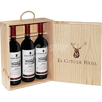 Coto de Imaz Vino tinto reserva D.O. Rioja estuche de madera 3 botellas 75 cl