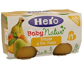 Hero Tarrito de 3 frutas Pack 2x130 g