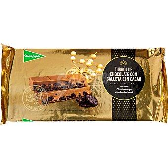 El Corte Inglés Turrón de chocolate con galleta con cacao Calidad Suprema Tableta 300 g