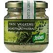 Paté vegetal a las finas hierbas Envase 125 g SANTIVERI Fuagrín
