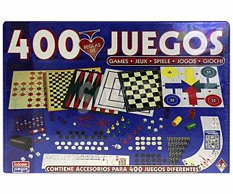 Falomir juegos Juego de Mesa Juegos Reunidos, con Accesorios para 400 Juegos Diferentes, De 2 a 4 Jugadores 1 Unidad
