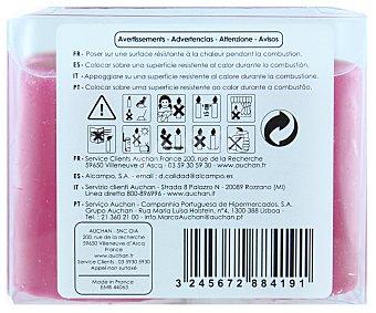 AUCHAN Velas cilíndricas perfumadas de 55x40 milímetros y con olor de mundos orientales Pack de 4 Unidades